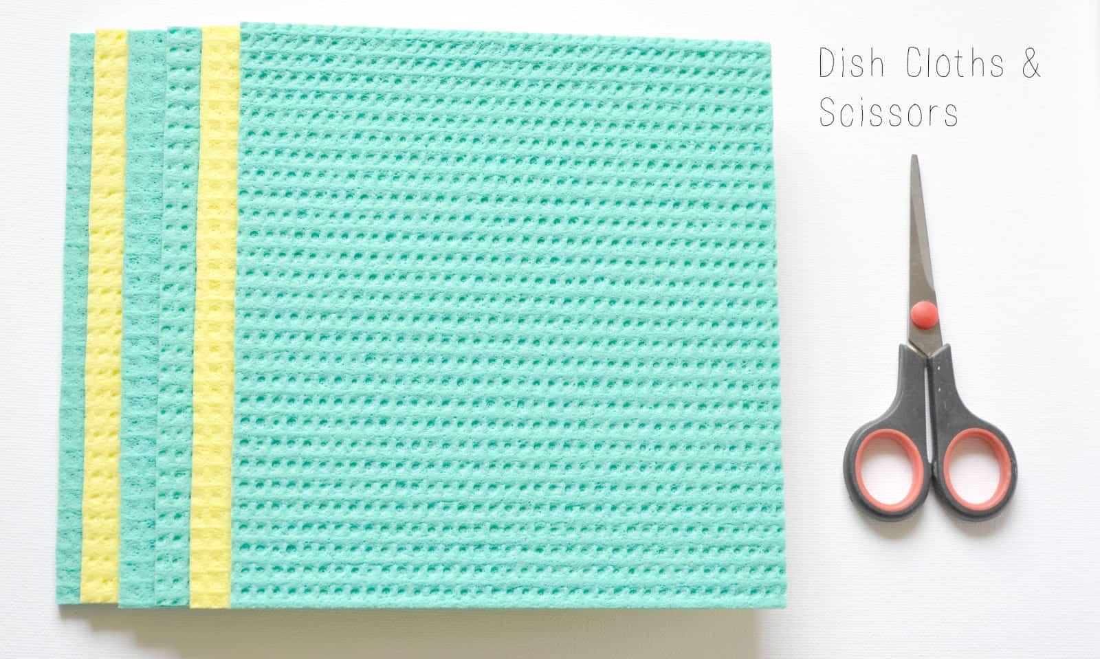 DIY jewelry box using shoebox and dish cloths