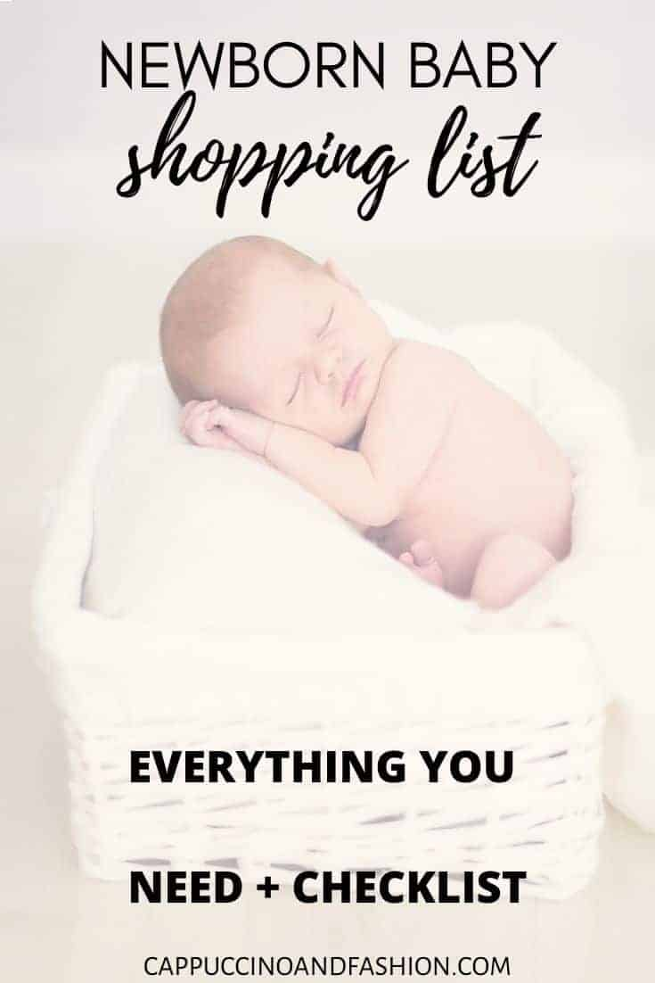 newborn baby shopping list with amazon baby registry must haves