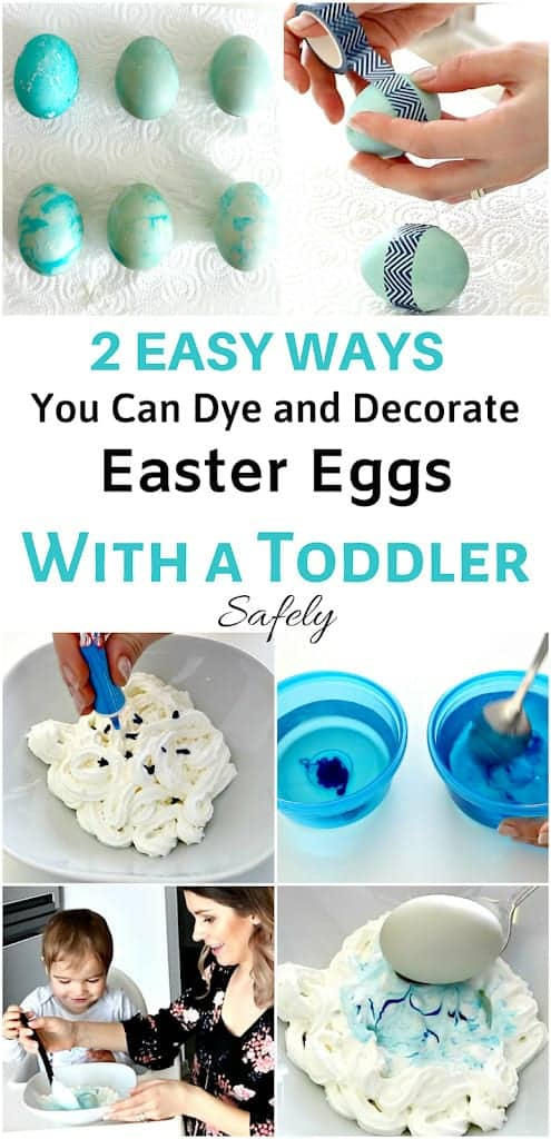 2 easy ways to dye and decorate eggs with toddler