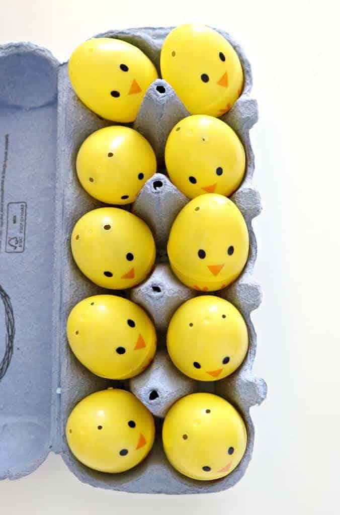 surprise plastic eggs for easter