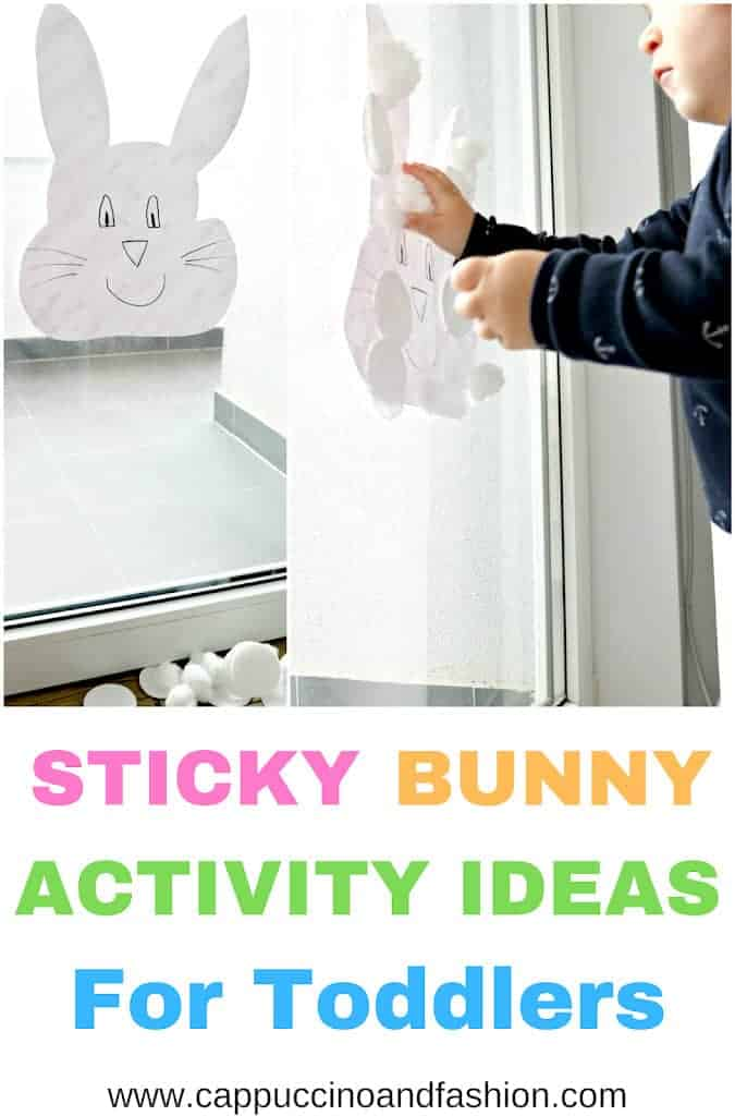 sticky window bunny activity for toddlers