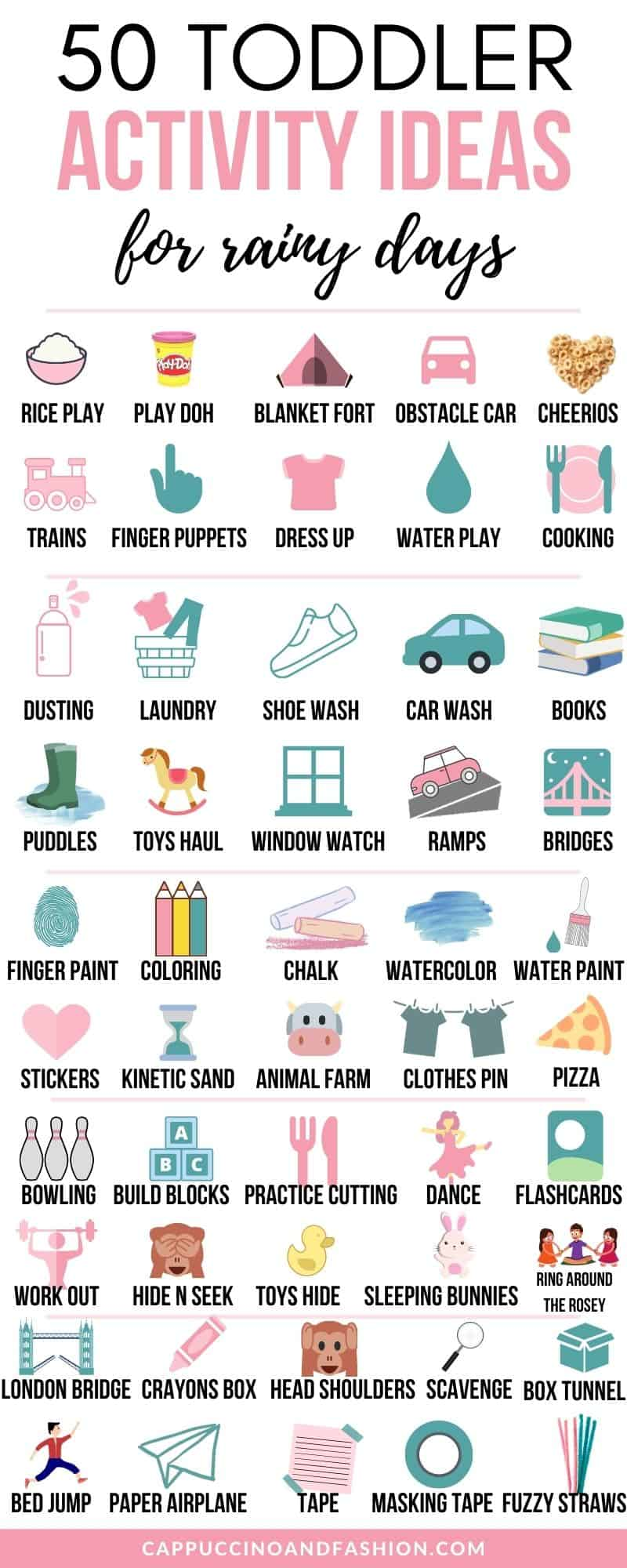 50 Toddler Activity Ideas for Rainy Days at Home