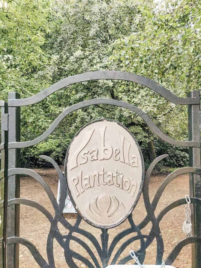 gate to Isabella Plantation in London