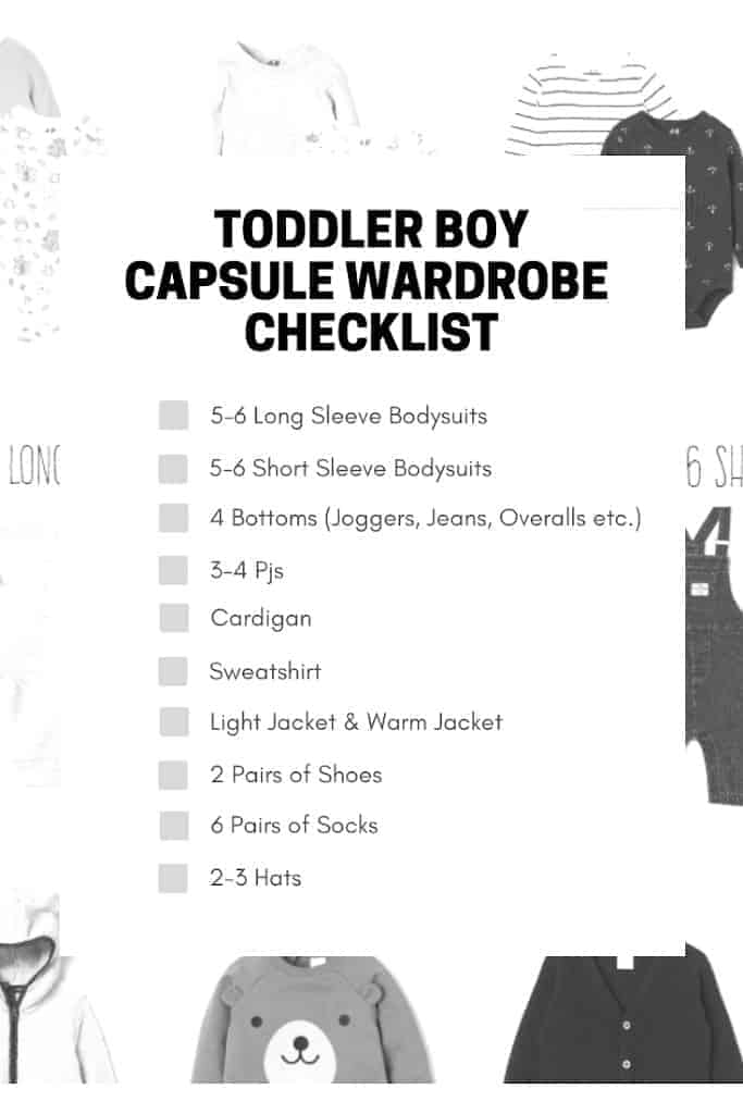 toddler capsule wardrobe checklist