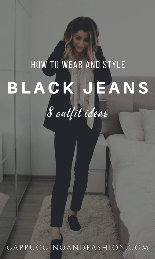 what to wear with black jeans outfits