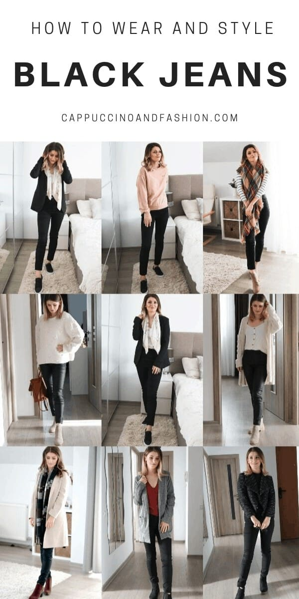 how to wear and style black jeans outfit ideas