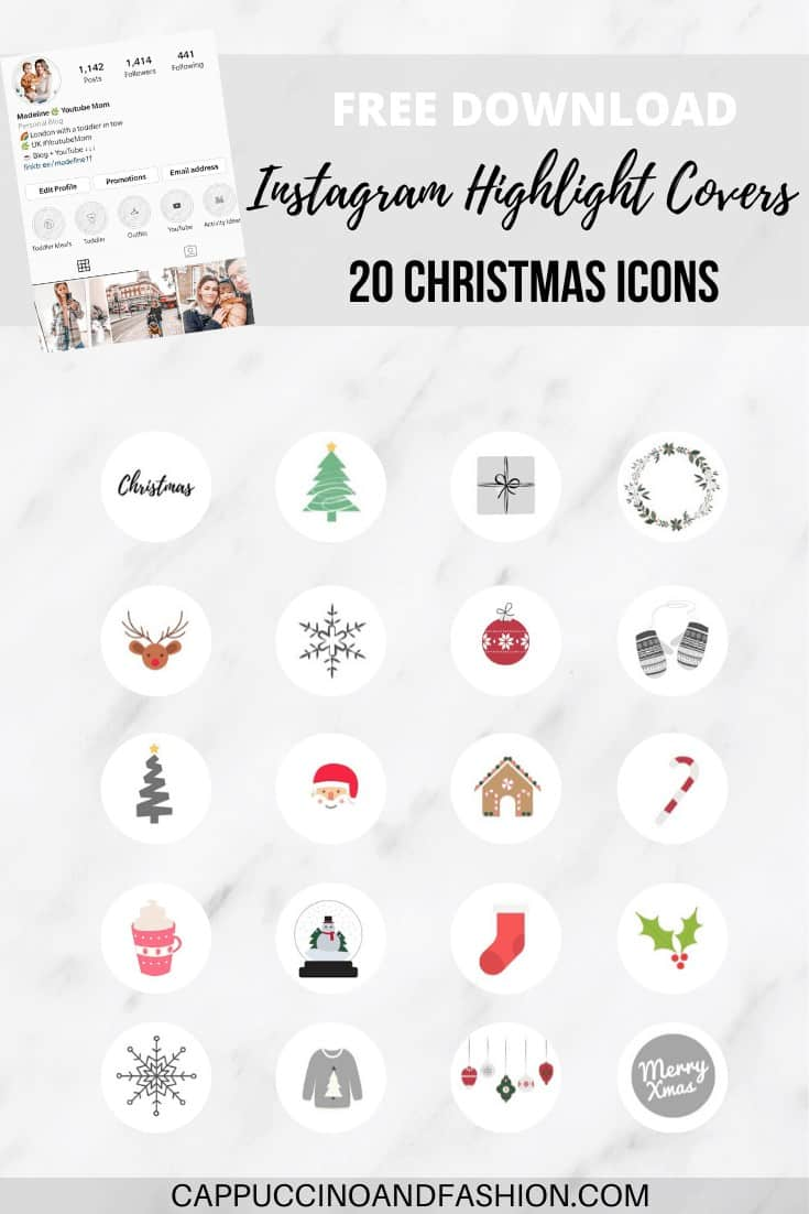 free download instagram highlight covers Christmas icons