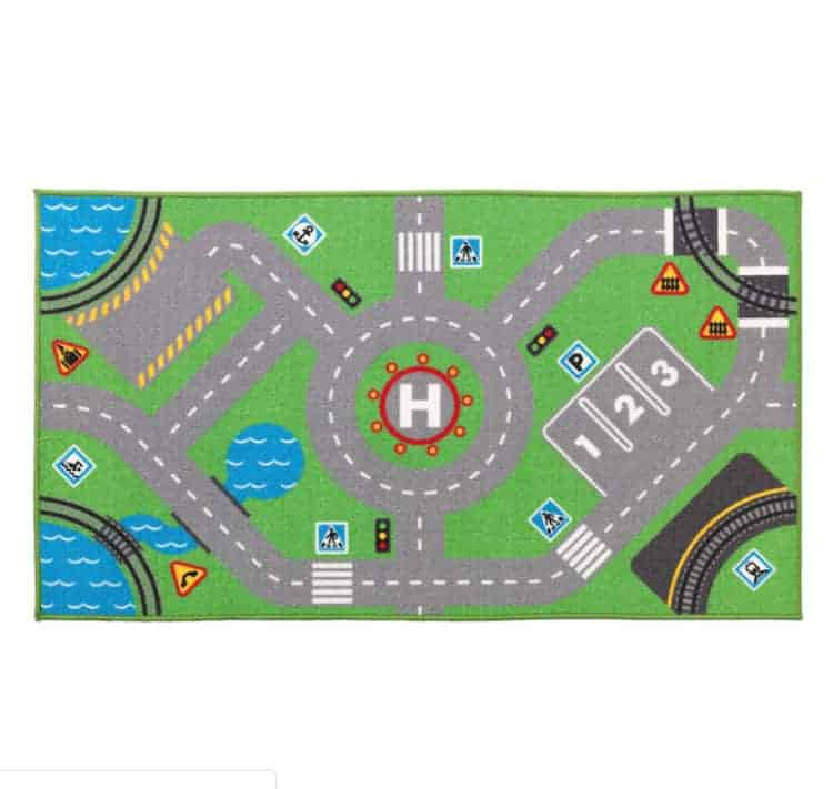 ikea roads rug for kids toddler room