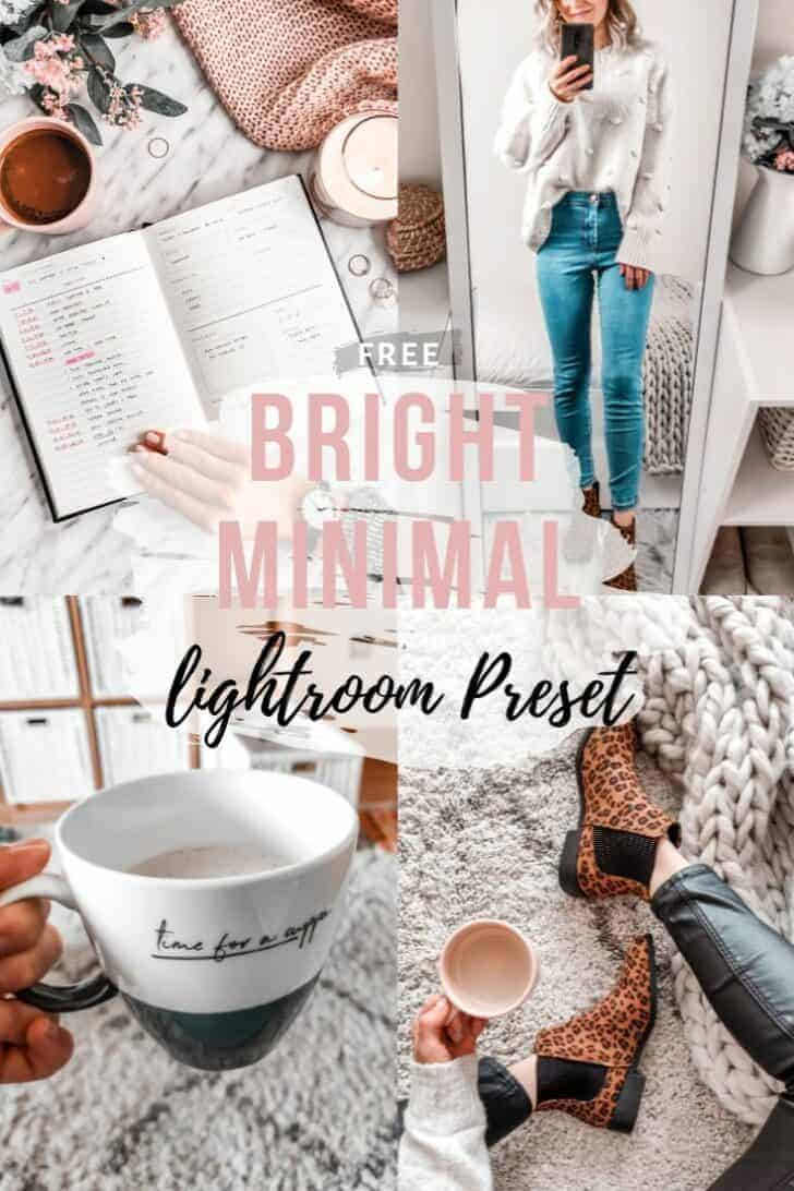bright minimal free lightroom preset download for instagram