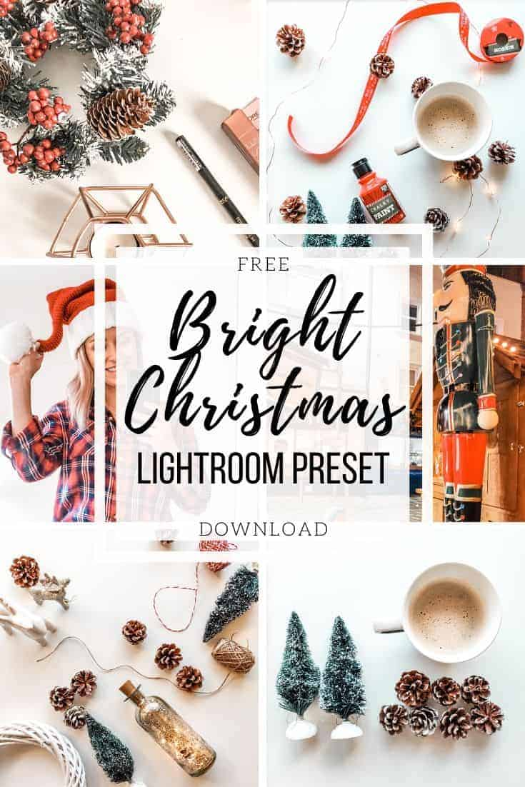 free download dng lightroom preset bright christmas