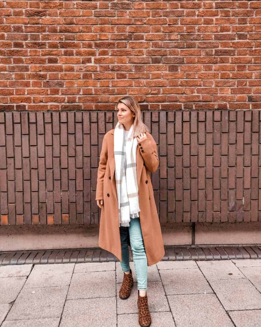 street style camel coat autumn winter primark outfit