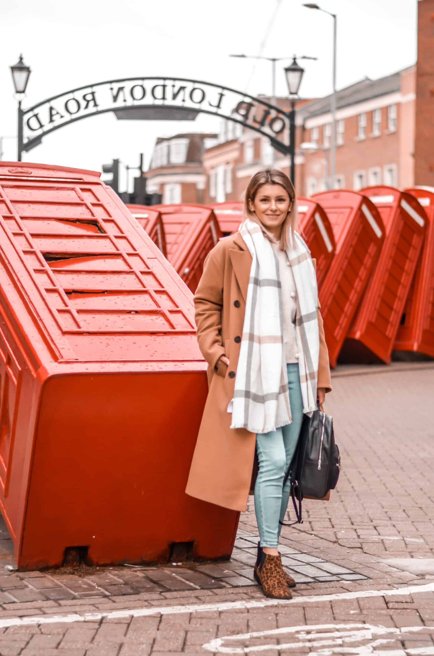 old london road street style camel coat autumn winter outfit