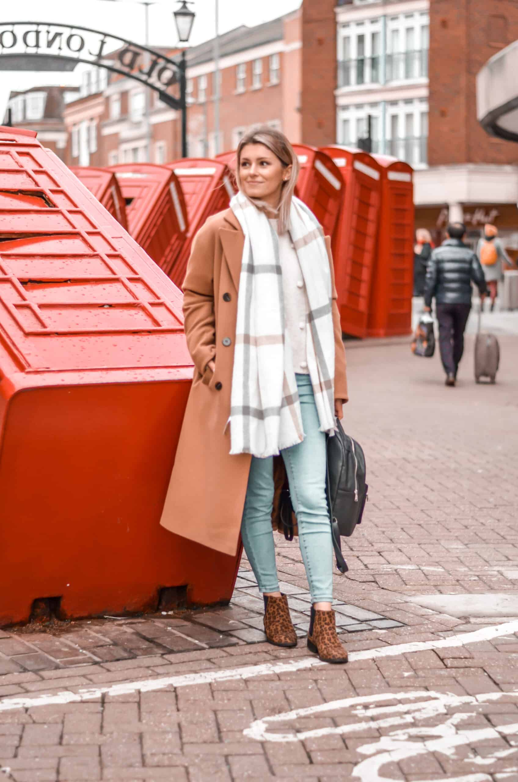 street style camel coat autumn winter outfit