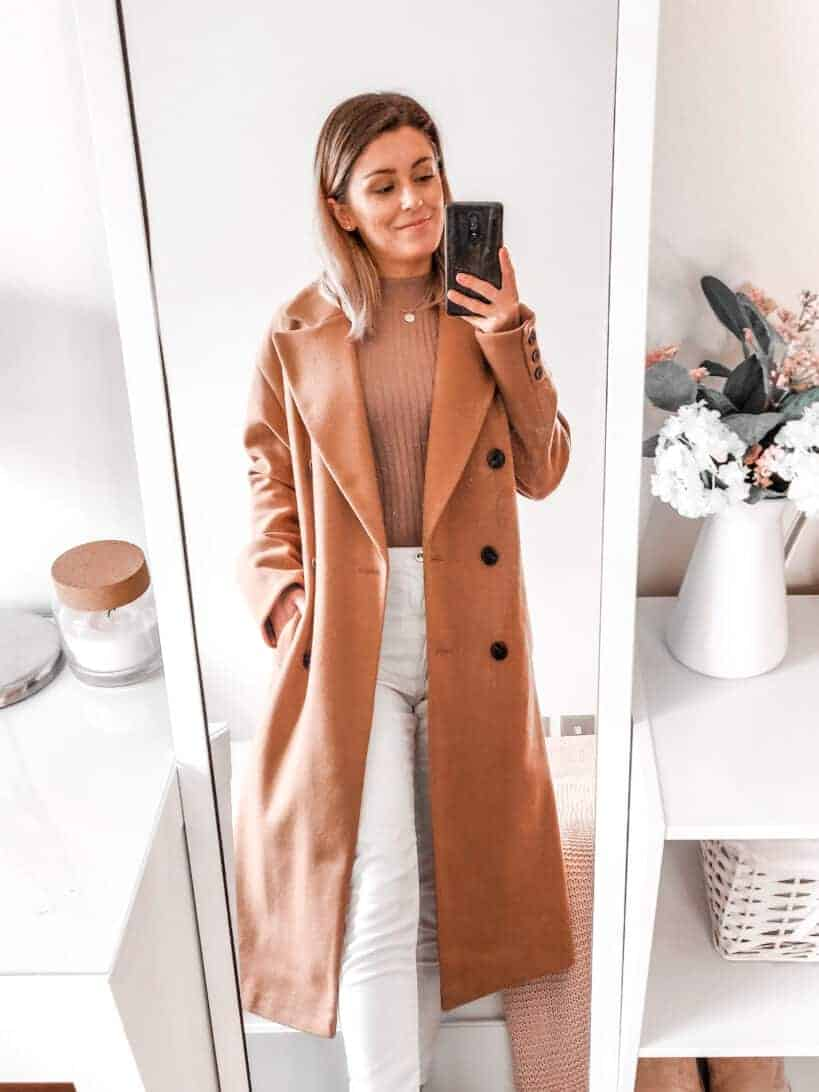 camel tones outfits coat for fall winter fashion primark