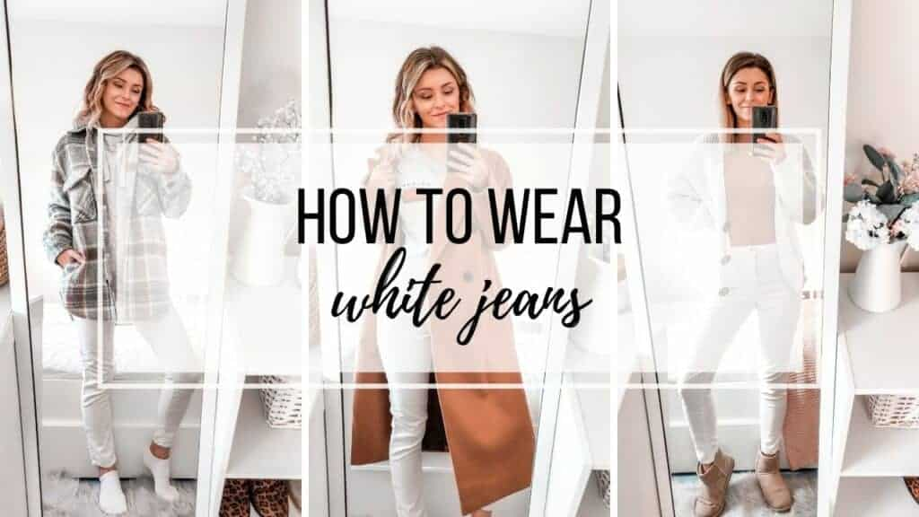 how to wear and style white jeans in autumn winter primark