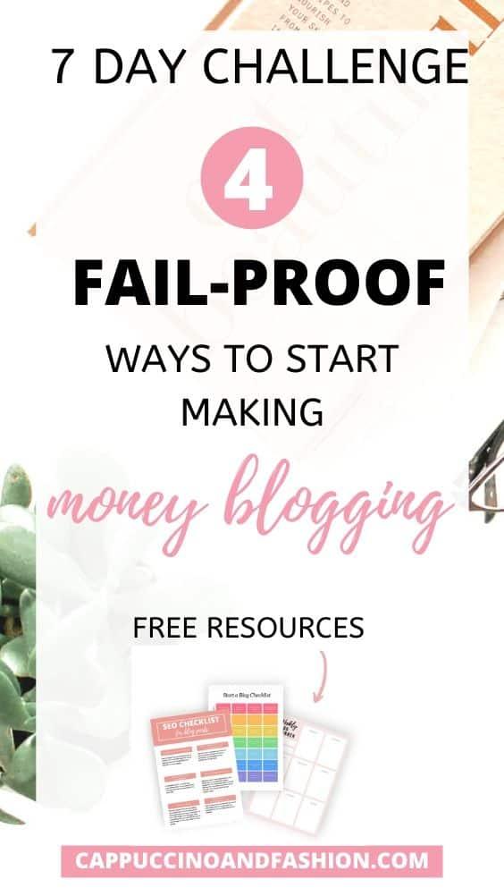 4 ways to start making money blogging with free resources