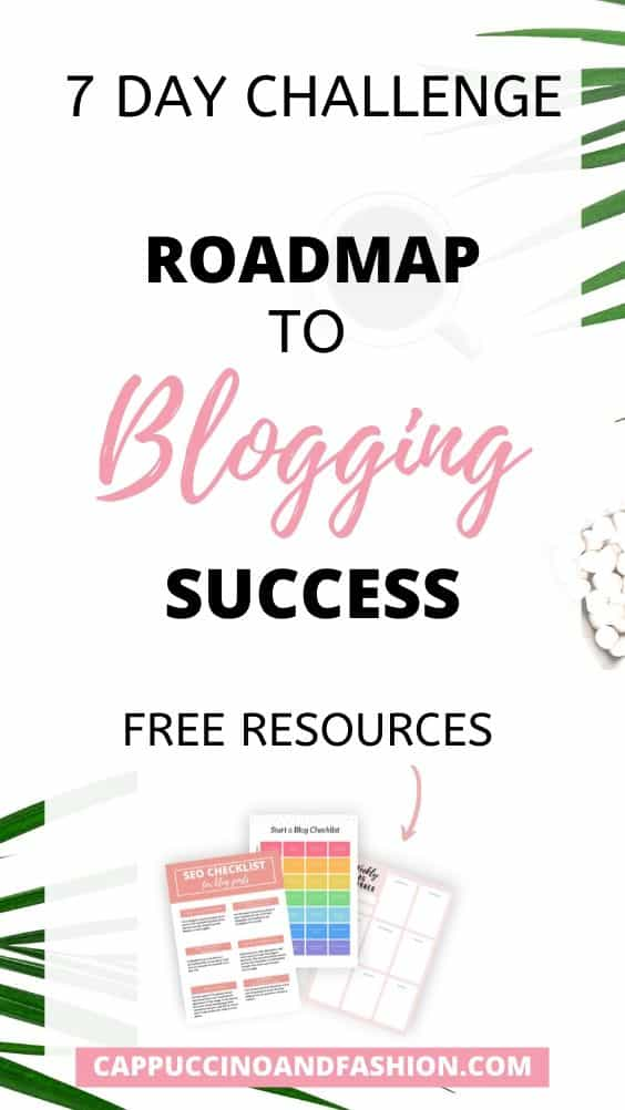 roadmap to blogging success with this 7 day free challenge