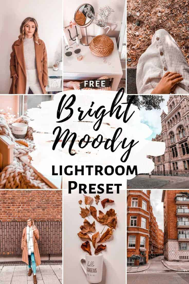 free lightroom preset download dng bright moody aesthetic for instagram