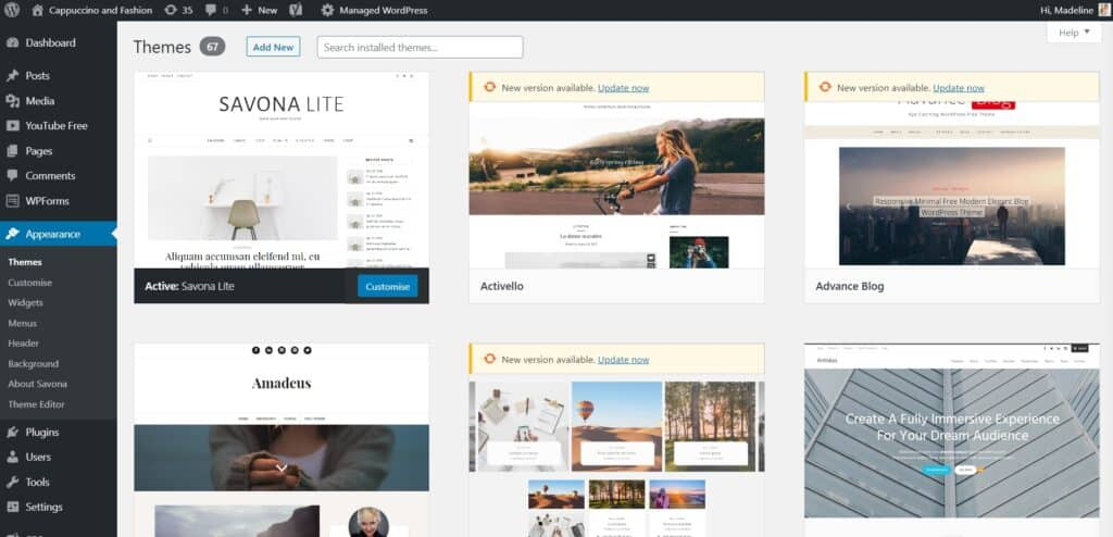 how to start a blog and choose a free wordpress theme