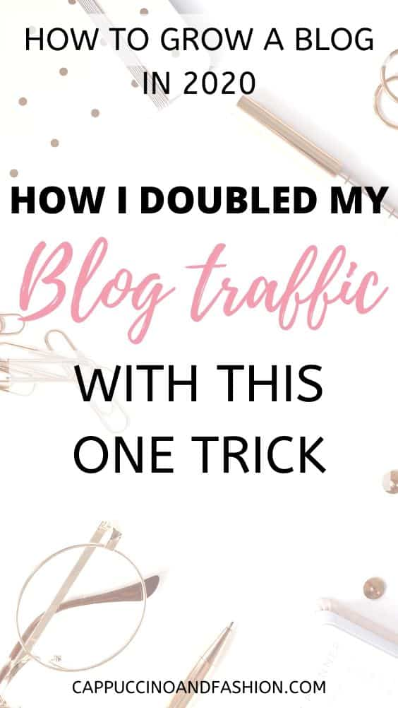 how i doubled my blog traffic fast
