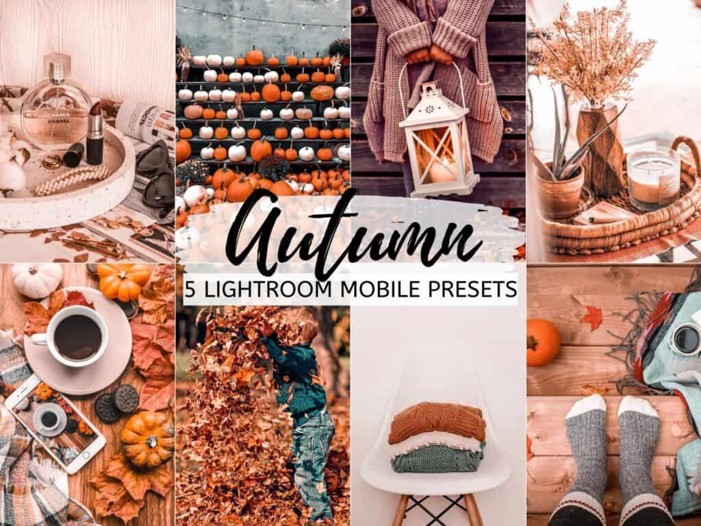 autumn fall pumpkin lightroom presets for instagram bloggers