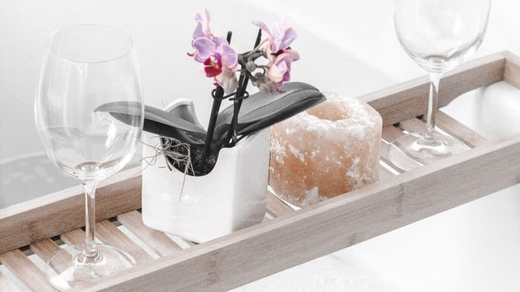 bamboo bath caddy mothers day gift ideas