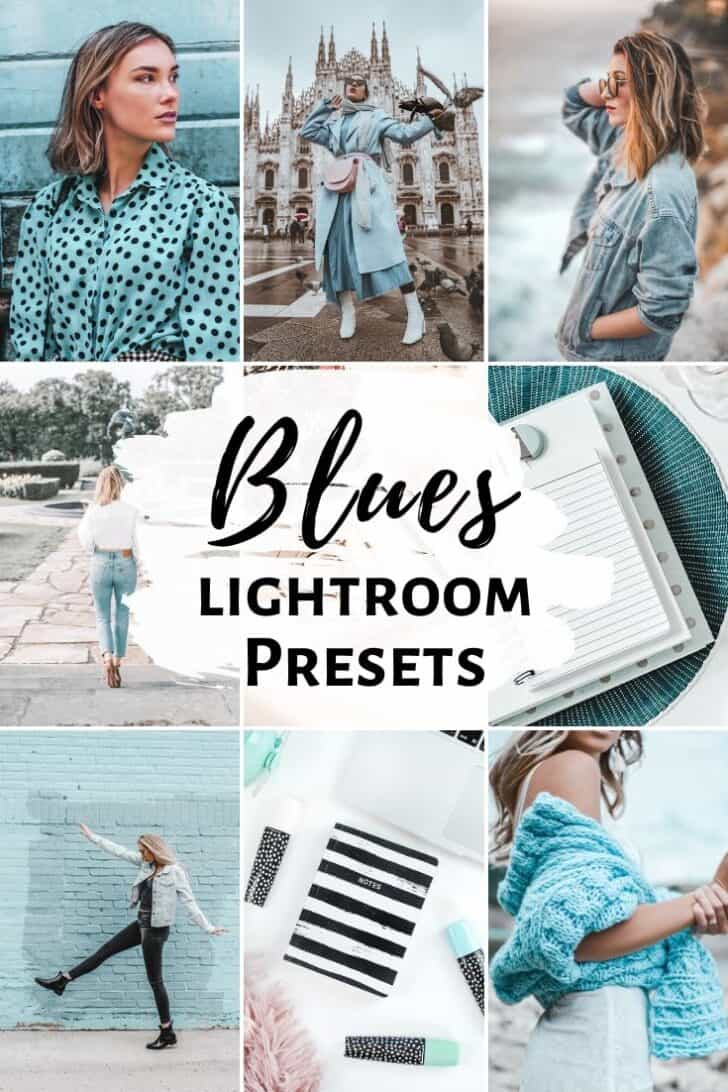 blue blues bright airy lightroom presets