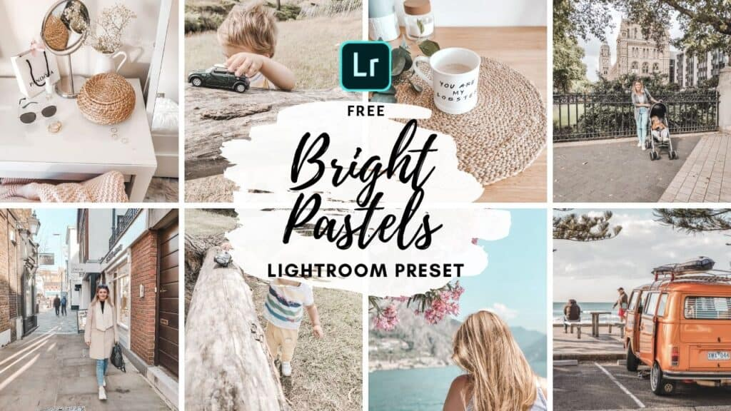 bright pastels free lightroom mobile preset