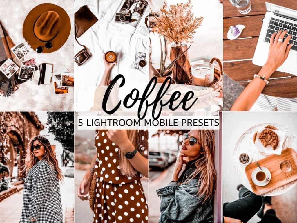 coffee bright airy moody lightroom mobile presets