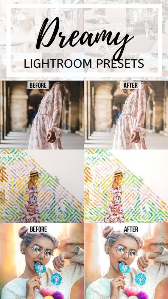 dreamy bright crisp lightroom mobile presets