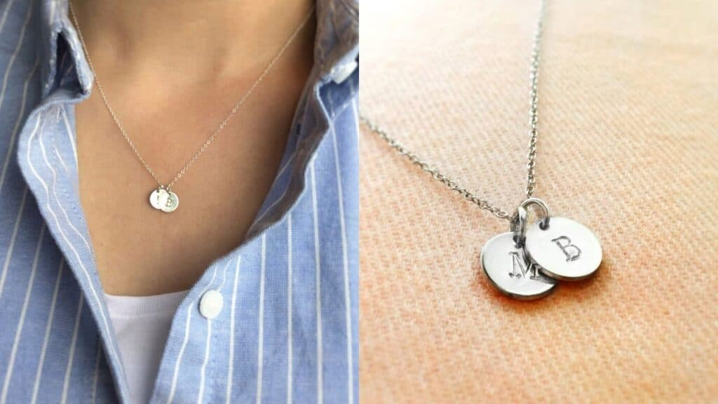 initials necklace mothers day gift ideas