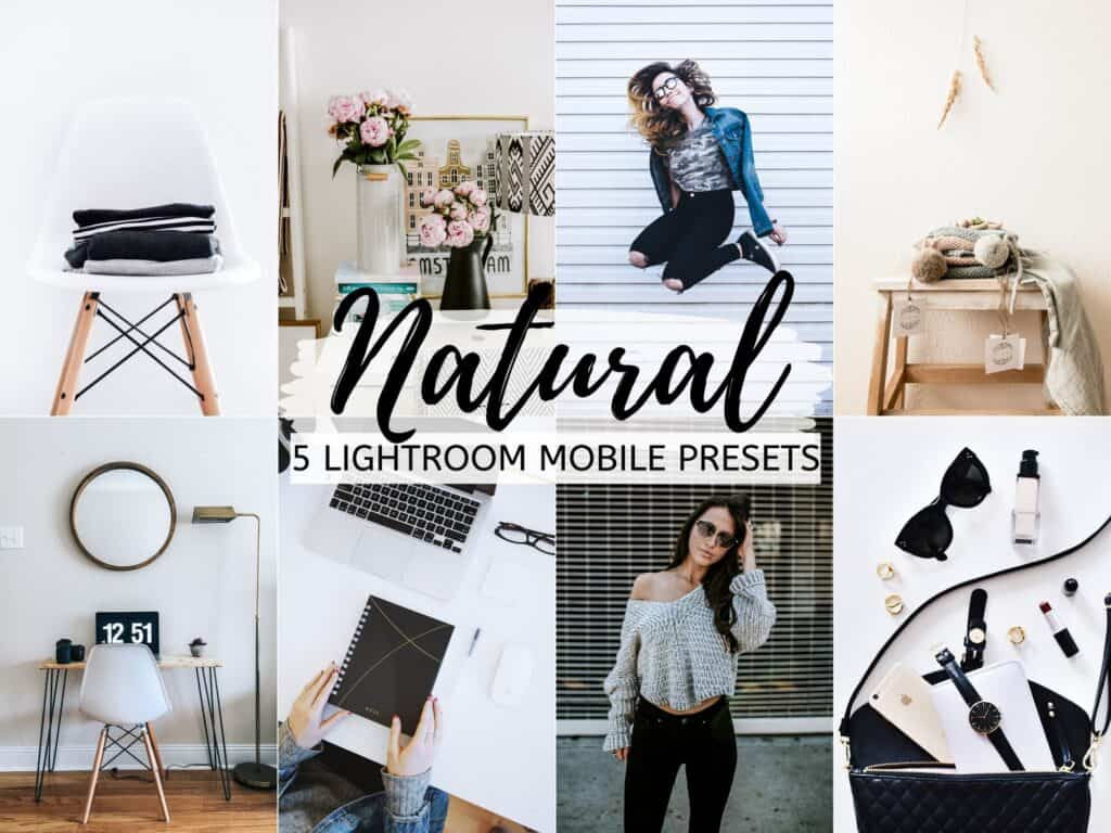 natural neutral bright airy lightroom presets