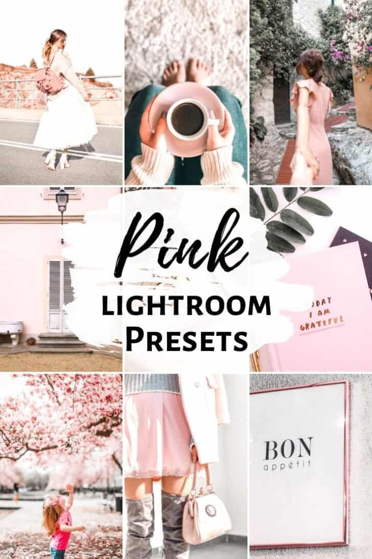 pink bright airy lightroom presets for instagram bloggers