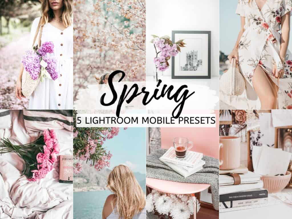 spring pastels bright airy lightroom mobile presets