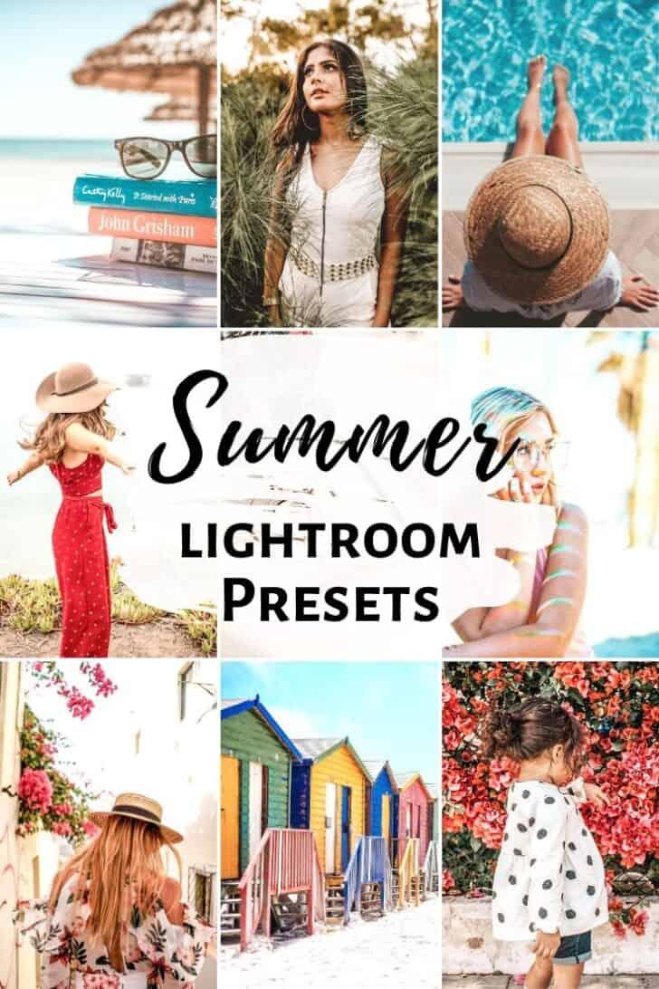 summer tropical bright lightroom mobile presets