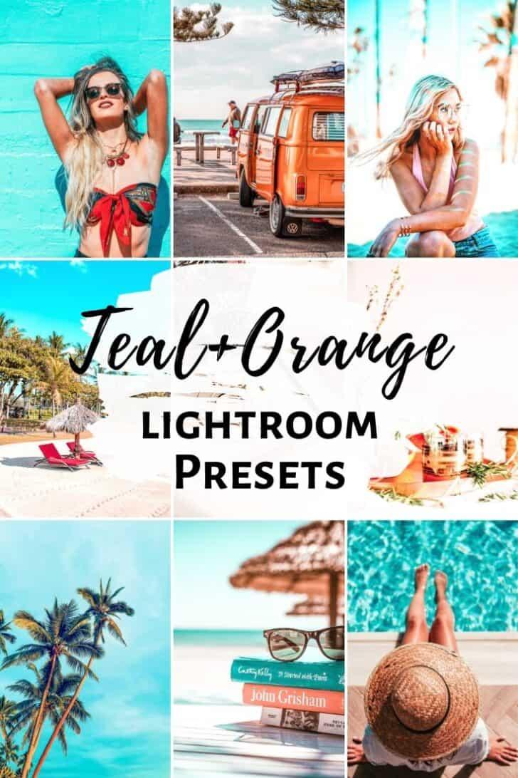 teal and orange summer bright airy lightroom mobile presets