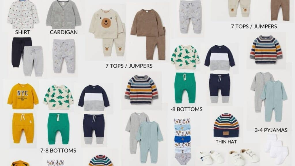 toddler boy capsule wardrobe checklist