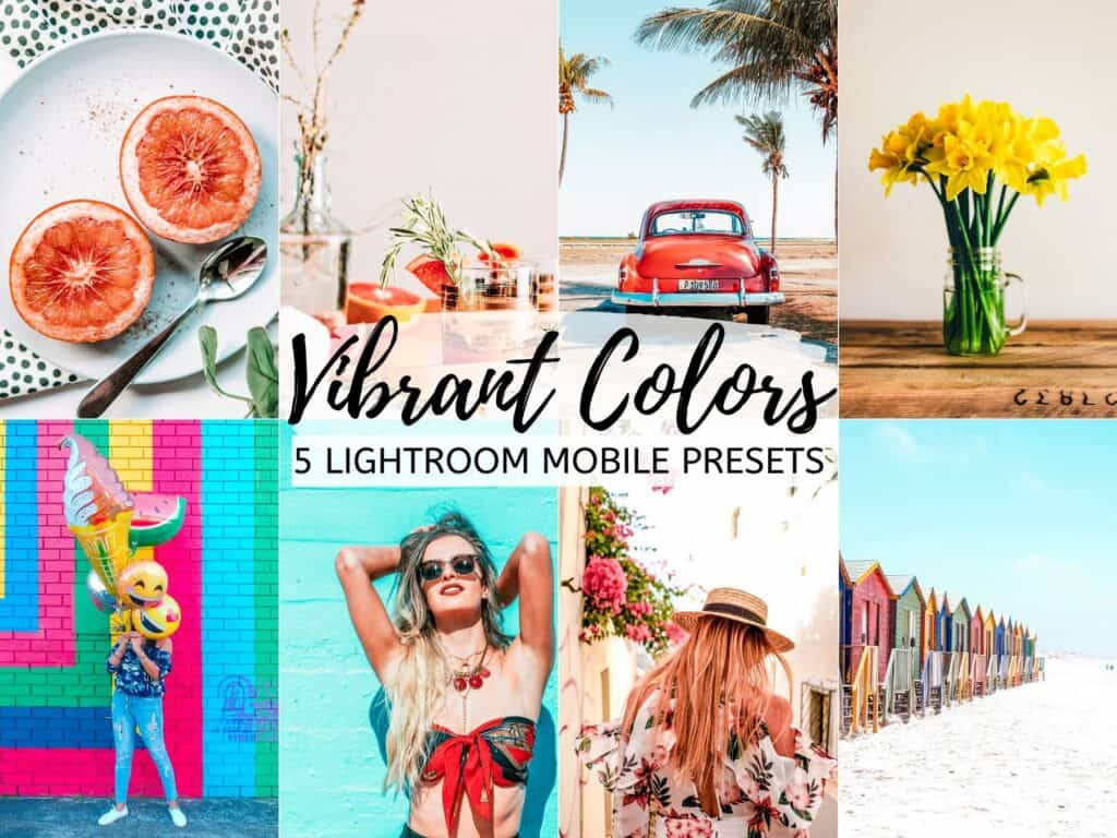 vibrant colorful lightroom presets