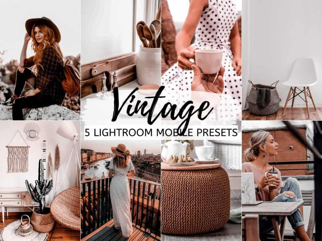 vintage moody lightroom mobile presets for instagram bloggers