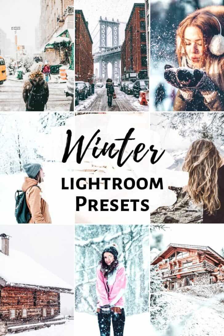 winter snowy bright lightroom mobile presets