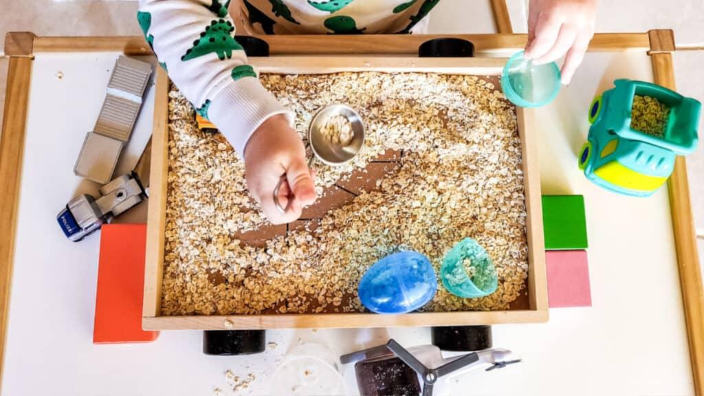 messy sensory dirt play montessori activities at home