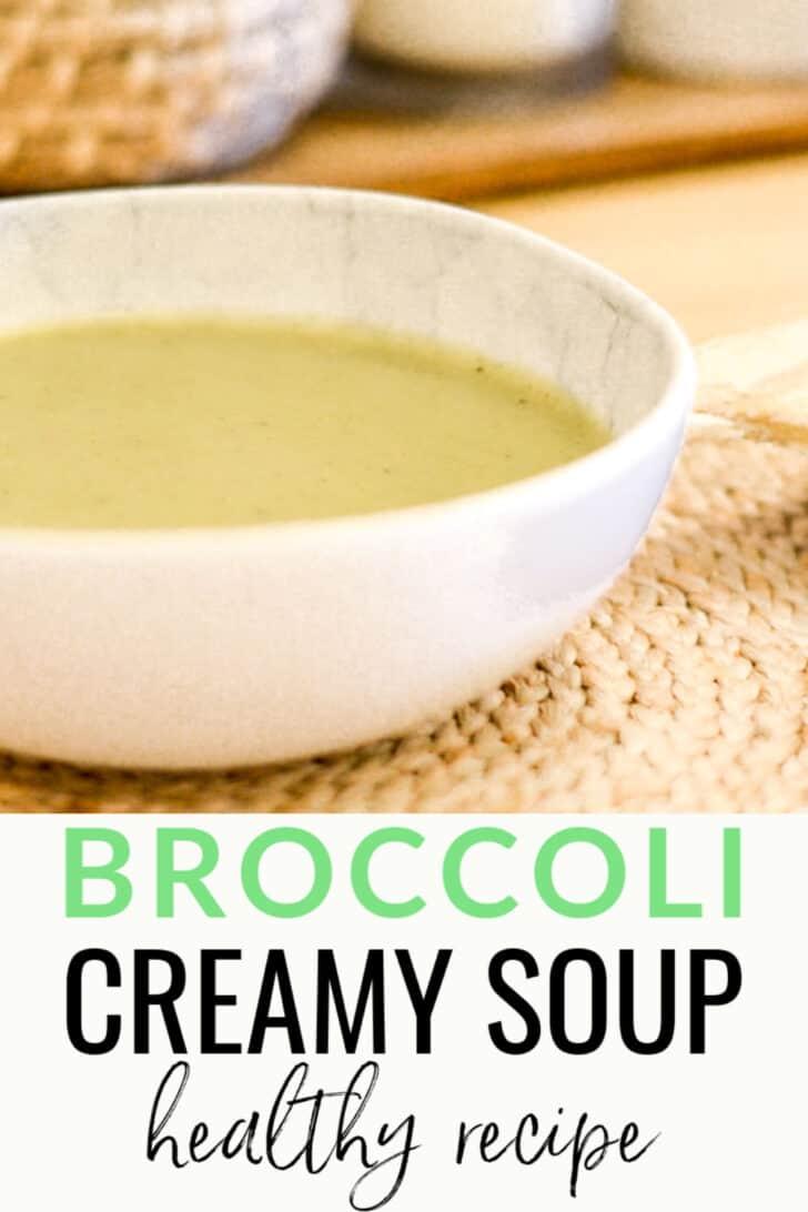 Broccoli cream soup homemade recipe