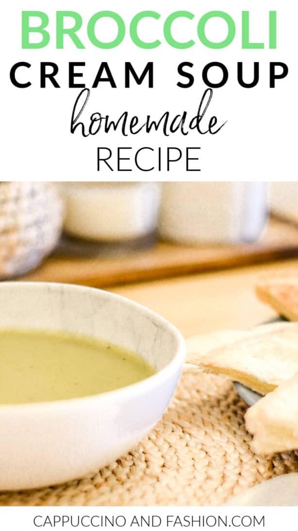 Cream of broccoli soup homemade recipe