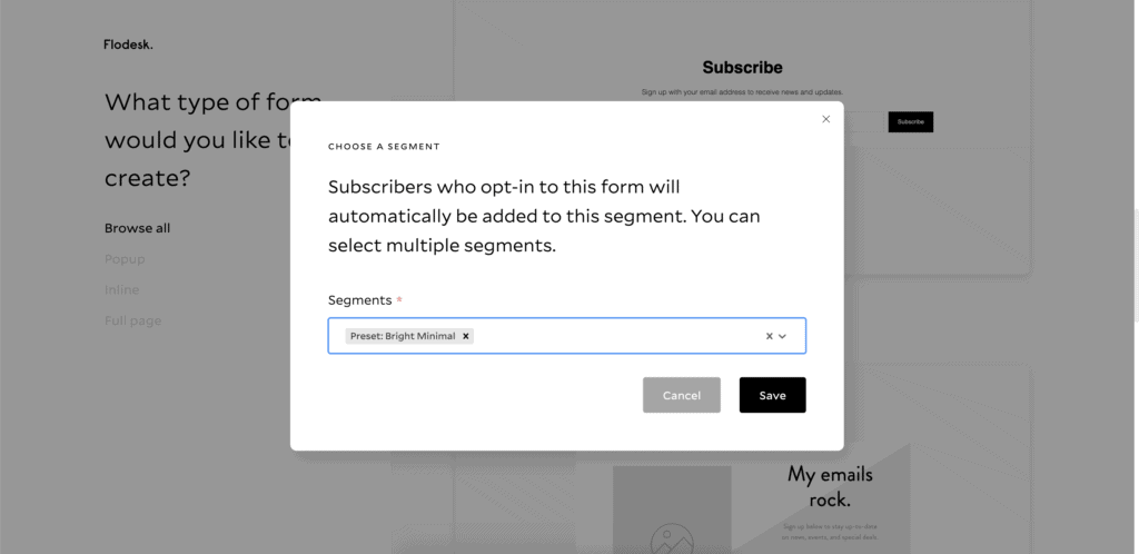 How to set up a form in Flodesk