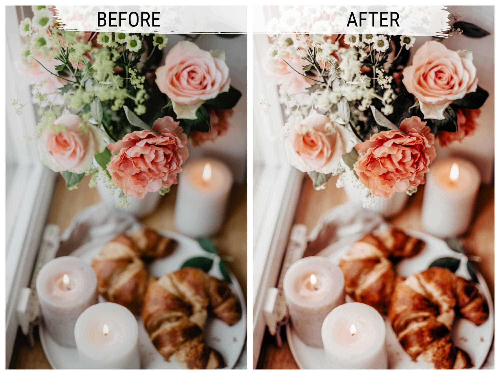 Bright cosy free lightroom preset for bloggers