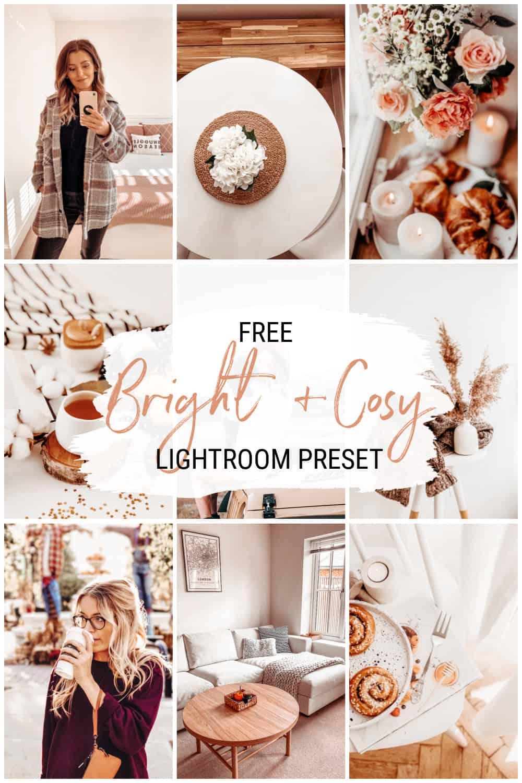 Bright cosy free lightroom preset