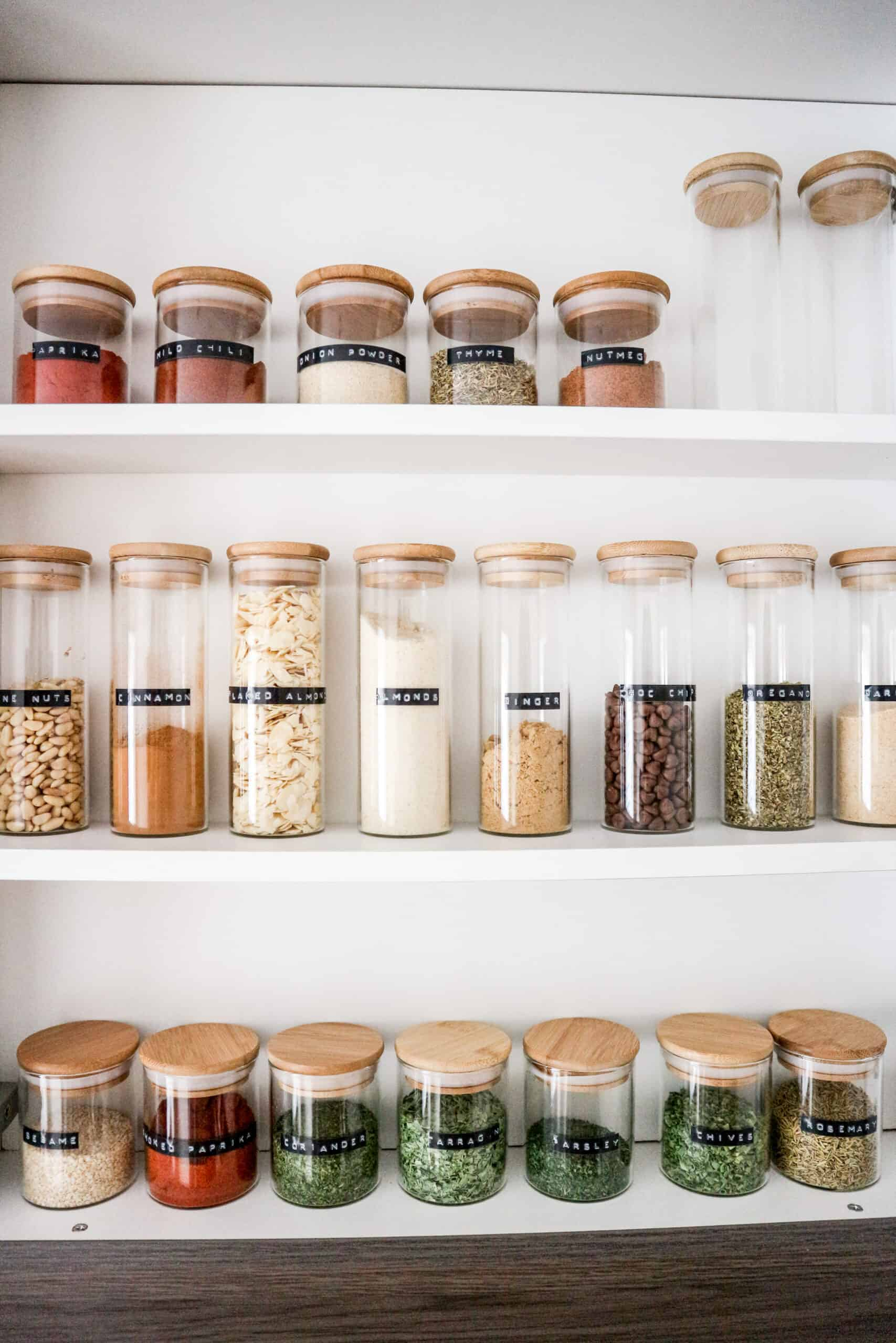 How to organize kitchen cabinets spice jars label maker