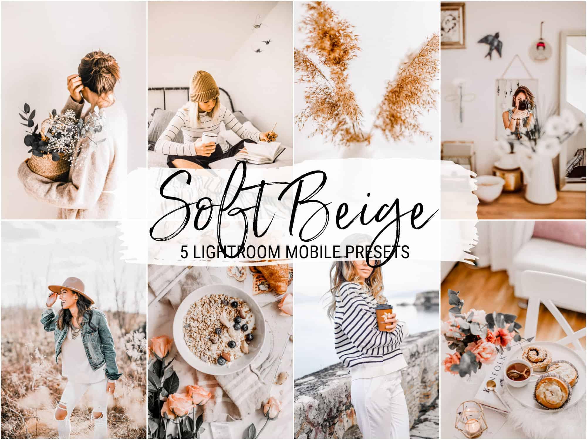 Soft beige bright lightroom presets