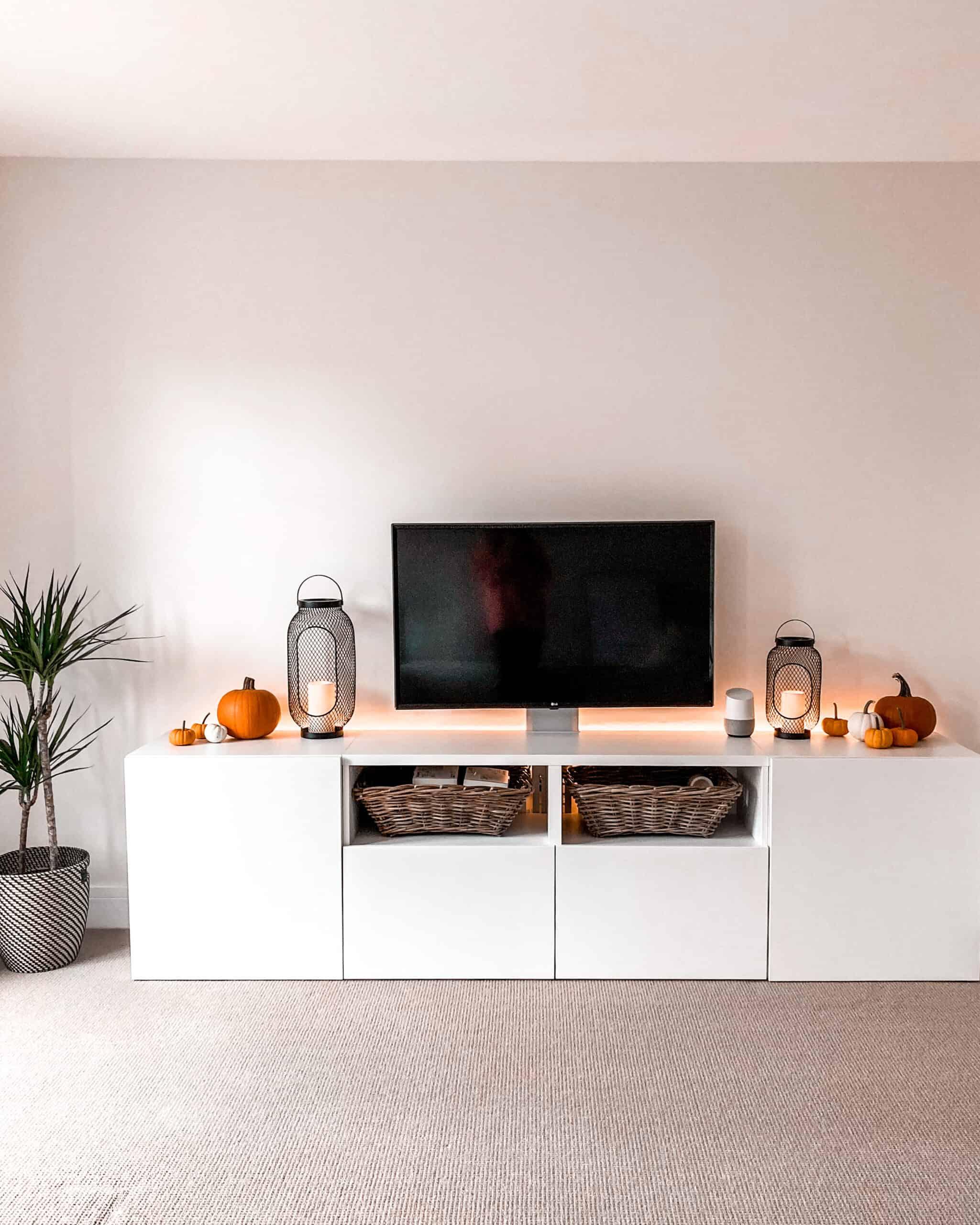 IKEA besta living toom tv stand minimal scandinavian