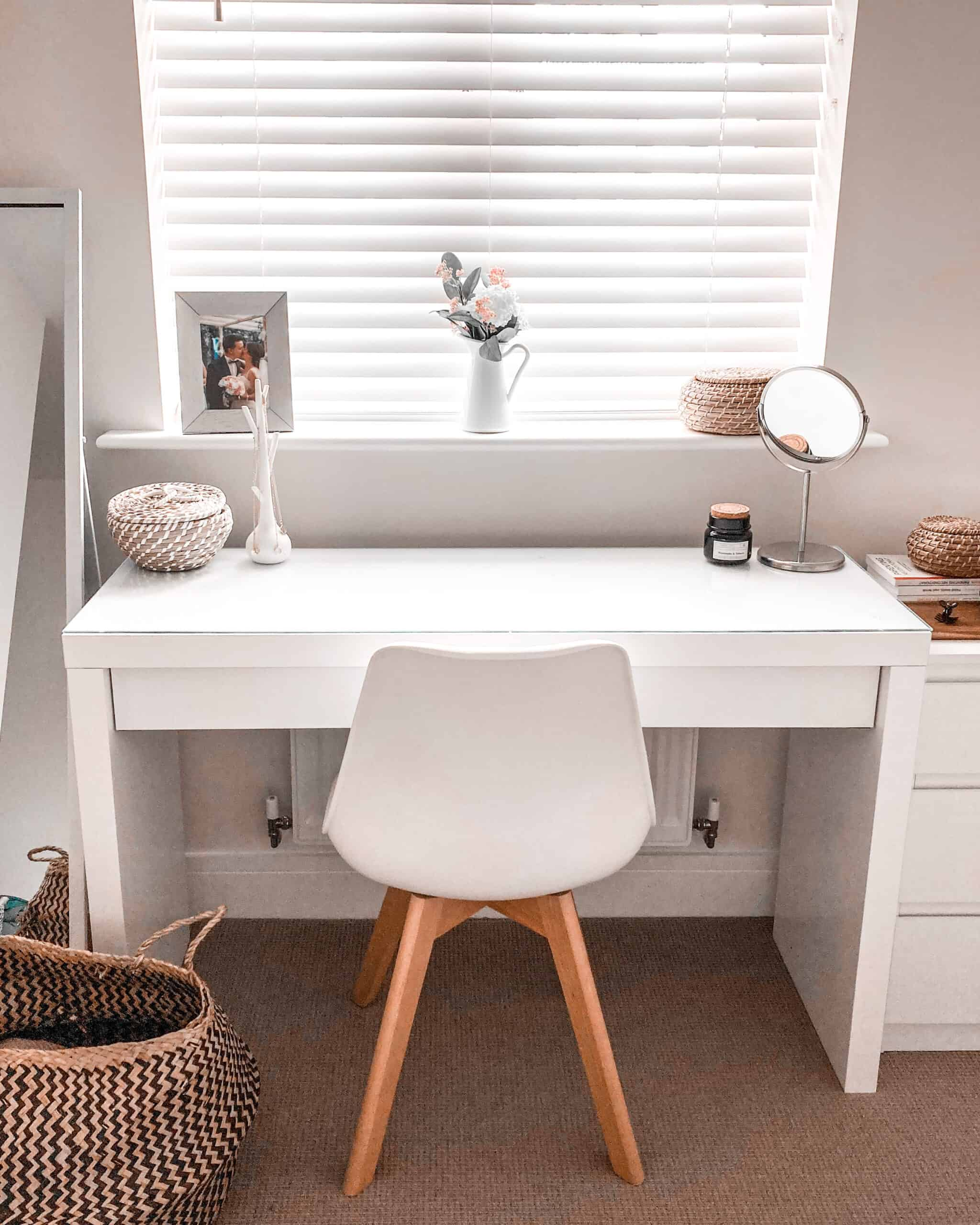 Vanity makeup table IKEA Malm Cleaning tips